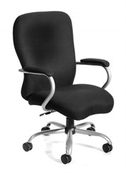 350 lb. Capacity Big & Tall Chair in Black Microfiber