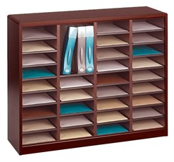 36 Compartment Literature Organizer