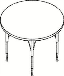 "36"" Diameter Round Table"