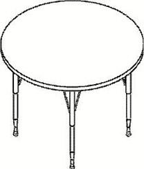 "36"" Diameter Round Table"