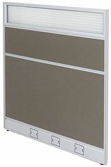 "36""W x 48""H Single Raceway Office Panel w/Glass Window"