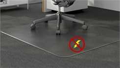 "Anti-Static Low Pile Carpet .125"" Thick Chair Mats - 36""x48"" - See More Sizes"