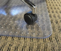 "36"" x 48"" Rectangular .25"" Thick Vinyl Chair Mat for High Pile Carpet- Other Sizes Available"