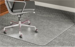 "High Pile Carpet .25"" Thick Chair Mats w/Beveled Edges - 36""x 48"" - Other Sizes Available"