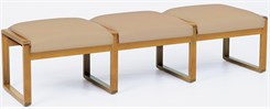 3-Seat Bench in Standard Fabric or Vinyl