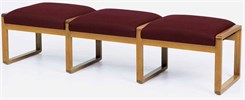 3-Seat Bench in Upgrade Fabric or Healthcare Vinyl