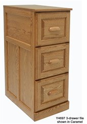 3-Drawer Genuine Oak File