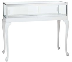 3' Width Queen Anne Tabletop Showcase - Other Sizes Available