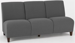 Siena 3 Seat Armless Sofa in Upgrade Fabric or Healthcare Vinyl