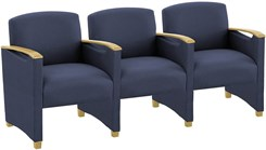 3 Seats w/Center Arms in Standard Fabric or Vinyl