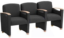Somerset 3-Seater w/Center Arms in Upgrade Fabric or Healthcare Vinyl