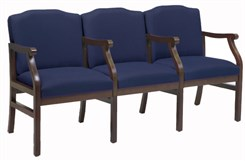 3-Seats w/Armrests in Standard Fabric or Vinyl