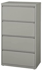 "30""W 4-Drawer Steel Lateral File"