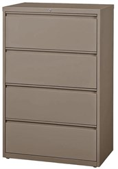"36""W 4-Drawer Steel Lateral File"