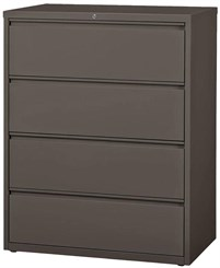 "42""W 4-Drawer Steel Lateral File"