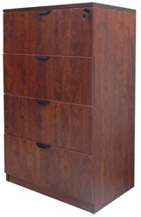 Cherry Laminate 4-Drawer Lateral File