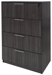 Charcoal Laminate 4-Drawer Lateral File