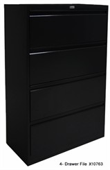 4-Drawer Non-Locking Steel Lateral File