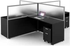 Basics Custom Cubicle - 10' x 10' / 4-Person Workstation