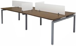 "4-Person Benching Workstation w/ 60"" x 24"" Worksurfaces"