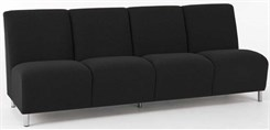4 Seat Armless Sofa in Upgrade Fabric or Healthcare Vinyl