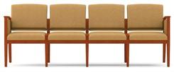 4 Seat Sofa in Upgrade Fabric or Healthcare Vinyl