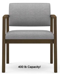 Lenox 400lb Capacity Guest Chair in Standard Fabric or Vinyl