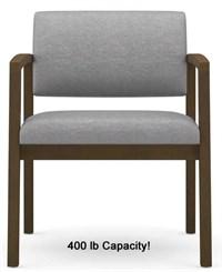 Lenox 400lb Capacity Guest Chair in Standard Fabric or Vinyl