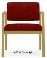Lenox 400lb Capacity Guest Chair in Upgrade Fabric or Healthcare Vinyl