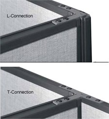 "42"" Panel L or T Connector with Post"