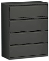"42""W 4-Drawer Lateral File (with lock)"
