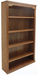 "42""W x 72""H Traditional Oak Bookcase"