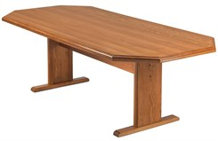 "42"" x 96"" Solid Oak Octagonal Conference Table"