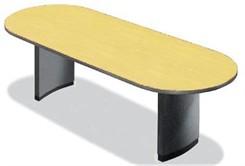 "44"" x 96"" Custom Oval Racetrack Table with Bullnose Edge"