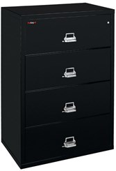 "44""W 4-Drawer FireKing Fireproof Lateral File"
