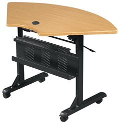 Quarter Round Flip-Top Training Table