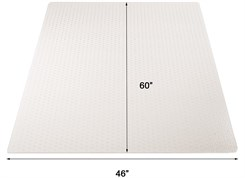 "46"" x 60"" High Pile Carpet Rectangular Chair Mat"