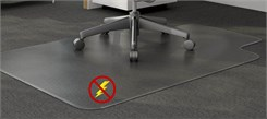 "46"" x 60"" Anti-Static Low Pile Carpet T-Shape Chair Mat  w/ Beveled Edges"