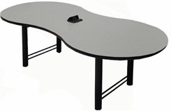"46"" x 96"" Break-Out Conference Table w/ Pop-Up Power/Communication Module"
