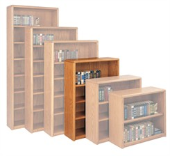 "48""H Oak Bookcase"
