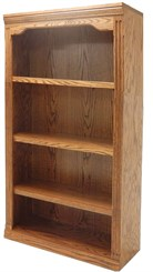 "48""H Traditional Oak Bookcase"