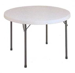 "48"" Round Resin Folding Table"