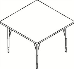 "48"" Square Top Table"
