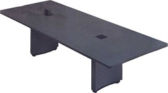 "48"" x 144"" Rectangular Conference Table w/ Pop-Up Power/Communication Modules"