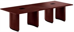 12' Two-Piece Custom Rectangular Conference Tables Power Modules