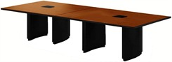 14' Two-Piece Custom Rectangular Conference Tables Power Modules