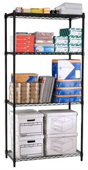 "48""W x 18""D x 72""H Wire Shelving Unit"