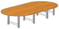 18' Custom High-Tech Racetrack Table w/4 Bases