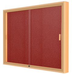 "48""W x 48""H Sliding Door Wall Display"