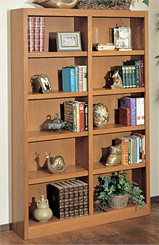 "Midas Oak Bookshelves with Reinforced Oak 1-1/2"" Edge"